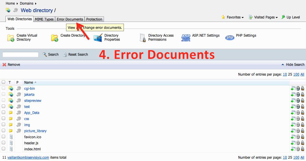 Plesk Panel 404 Error Page