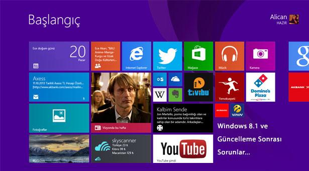 Windows 8.1 Sorunları